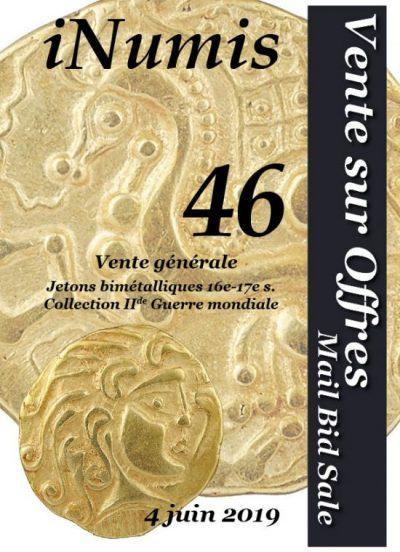 Image Résultats de la Vente sur Offres iNumis 46 sont publiés