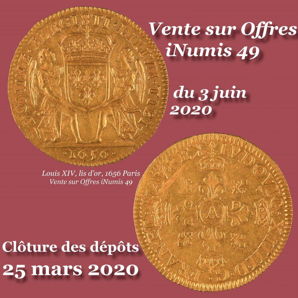 Image Dépôts Vente sur Offres iNumis 49